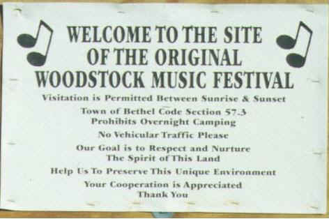 Following the sale ofthe Woodstock Site, signs were posted